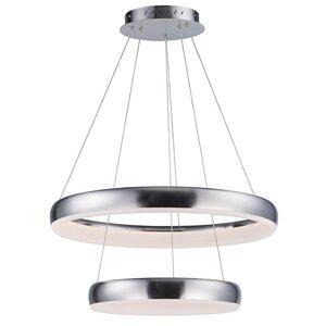 ET2 Lighting 2-Tier LED Pendant in Satin Nickel