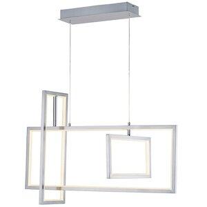 ET2 Lighting 3-Light LED Pendant in Satin Nickel
