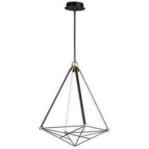 ET2 Lighting Large LED Pendant in Black / Gold