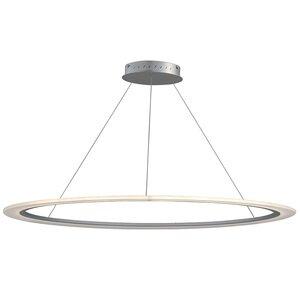 """ET2 Lighting 51"""" LED Pendant in Matte Silver"""