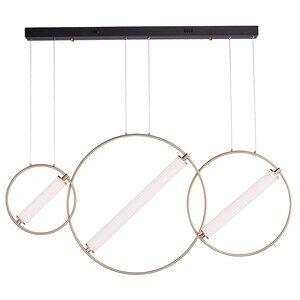 ET2 Lighting 3-Light LED Pendant in Black / Soft Gold
