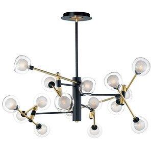 ET2 Lighting 16-Light LED Pendant in Black / Gold