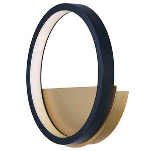 ET2 Lighting LED Wall Sconce in Black / Gold
