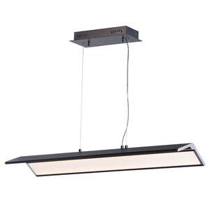 ET2 Lighting LED Pendant in Black / Polished Chrome