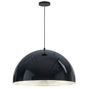 """ET2 Lighting 1-Light 31"""" LED Pendant in Gloss Black / Aluminum"""