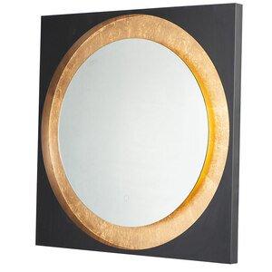 """ET2 Lighting LED Mirror Square 31.5"""" in Gold Leaf / Black"""