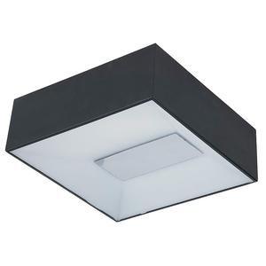 ET2 Lighting LED Flush Mount in Black with White Glass