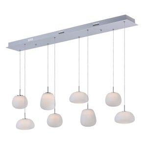ET2 Lighting Puffs 8-Light Pendant in White