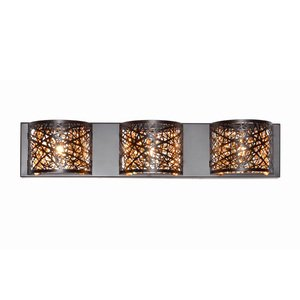 ET2 Lighting Inca 3-Light Wall Mount W/LED Bulb in Bronze