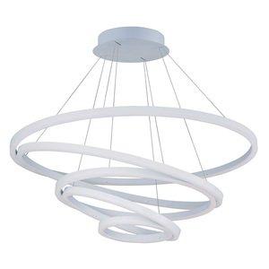 ET2 Lighting Cirque LED Pendant in Matte White