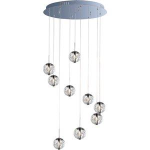 orb orb 9 light pendant in polished chrome et2 lighting e24254 91pc