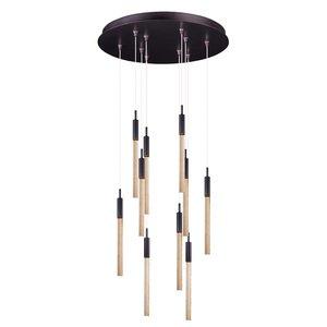 ET2 Lighting Scepter 10-Light Pendant in Anodized Bronze
