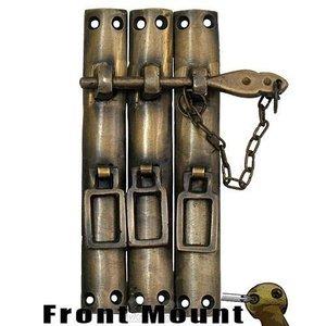 "Gado Gado 2 3/8"" x 5 1/4"" Three Piece Lock w/ Chain"