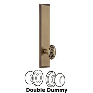 Grandeur Door Hardware ' Tall Plate Double Dummy with Grande Victorian Knob in Vintage Brass