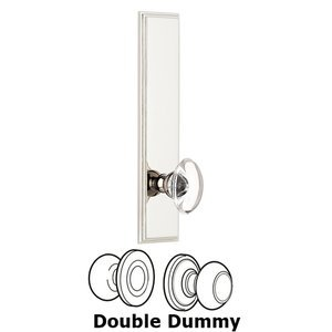 Grandeur Door Hardware - Carre - ' Tall Plate Double Dummy with Provence Knob in Polished Nickel
