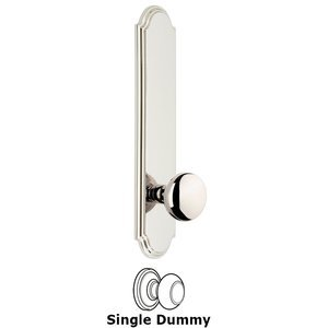 Grandeur Door Hardware - Arc - Tall Plate Dummy with Fifth Avenue Knob in Polished Nickel