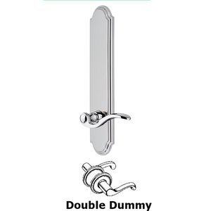 Grandeur Door Hardware - Arc - Tall Plate Double Dummy with Bellagio Lever in Bright Chrome
