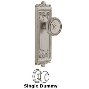 Grandeur Door Hardware Grandeur Windsor Plate Dummy with Soleil Knob in Satin Nickel