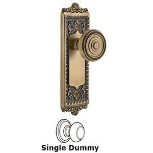 Grandeur Door Hardware Grandeur Windsor Plate Dummy with Soleil Knob in Vintage Brass