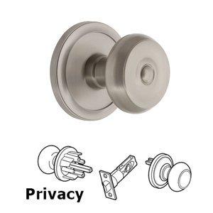 Grandeur Door Hardware Grandeur Circulaire Rosette Privacy with Bouton Knob in Satin Nickel