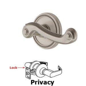 Grandeur Door Hardware Grandeur Soleil Rosette Privacy with Newport Lever in Satin Nickel