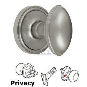 Grandeur Door Hardware Privacy Knob - Georgetown Rosette with Eden Prairie Door Knob in Satin Nickel