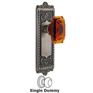 Grandeur Door Hardware Windsor - Dummy Knob with Baguette Amber Crystal Knob in Antique Pewter