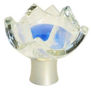 "Grace White Glass Hardware 1 3/4"" Tulip Periwinkle Knob"