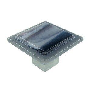 "Grace White Glass Hardware 2"" Weston Knob"