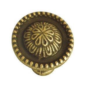 "Hafele Hardware 1"" Diameter Knob in Rustic Brass"