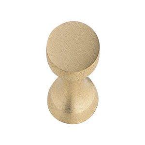"""Hafele Hardware 1/2"""" Diameter Knob in Brass Matte"""
