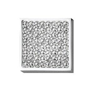 """Hafele Hardware 1 3/16"""" Square  Knob in Polished Chrome"""
