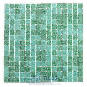 "HotGlass - Classic CartGlass Blended 3/4"" Glass Jade Blend 12 7/8"" x 12 7/8"" Mesh Backed Sheet"