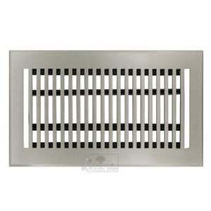 "Hamilton Sinkler Solid Bronze 4"" x 8"" Flat Floor Register with Louver in Brushed Nickel"