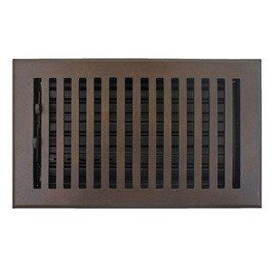 "Hamilton Sinkler Solid Bronze 4"" x 8"" Flat Floor Register with Louver in Bronze Patina"