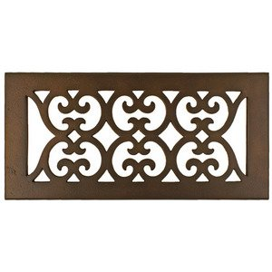 "Hamilton Sinkler - Solid Bronze 4"" x 10"" Scroll Floor Register with Louver in Bronze Patina"