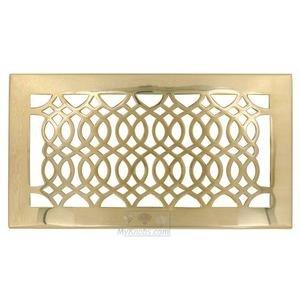 "Hamilton Sinkler Solid Brass 6"" x 12"" Strathmore Floor Register with Louver in Polish Brass"