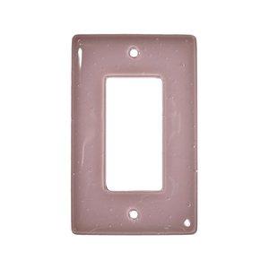 Hot Knobs Single Rocker Glass Switchplate in Dusty Lilac
