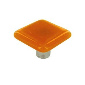 """Hot Knobs 1 1/2"""" Knob in Pumpkin with Aluminum base"""