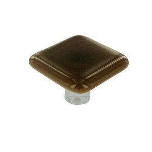 """Hot Knobs 1 1/2"""" Knob in Tan with Aluminum base"""