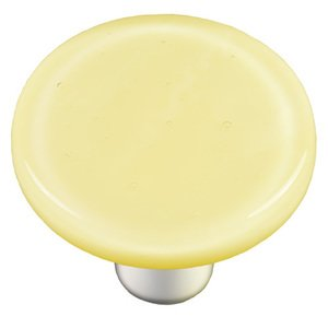 "Hot Knobs 1 1/2"" Diameter Knob in Marzipan Striker with Aluminum base"