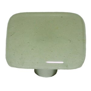 """Hot Knobs 1 1/2"""" Knob in Pine Green Tint with Aluminum base"""