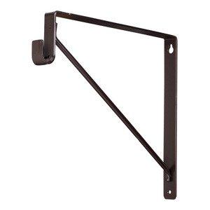 Hardware Resources Shelf & Rod Support Bracket in Dark Bronze