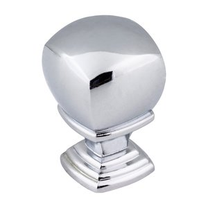 "Jeffrey Alexander 7/8"" Overall Length Cabinet Knob in Polished Chrome"