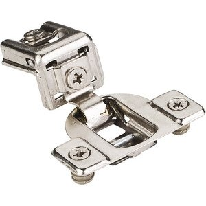 "Hardware Resources 1-1/4"" Overlay Cam Adjustable Face Frame Hinge with dowels in Nickel"