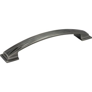 Jeffrey Alexander 160mm Centers Lined Cabinet Pull in Brushed Black Nickel