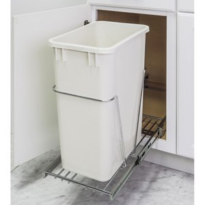 Hardware Resources 35 & 50 Quart Single Pullout Trash Can System in Polished Chrome