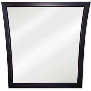 "Jeffrey Alexander 25"" x 25"" Mirror in Black with Beveled Glass"