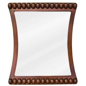 """Jeffrey Alexander 24"""" x 28"""" Mirror in Rosewood with Beveled Accents and Beveled Glass"""