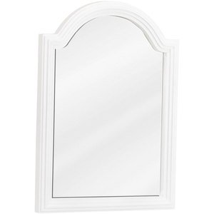 """Elements Hardware 22"""" x 30"""" Reed Frame Mirror with Beveled Glass in White"""